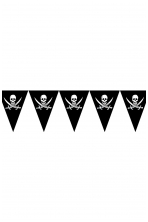 Piratų vėliavų girlianda