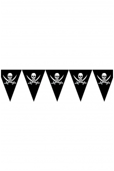 Pirate flag garland