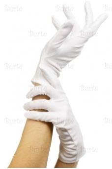 Trumpos baltos pirštinės