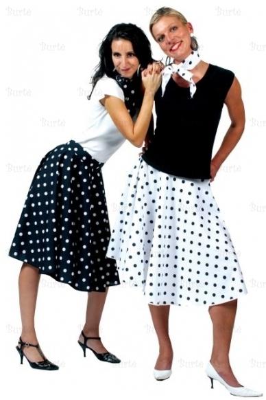 50-tųjų stiliaus sijonas, juodas 3