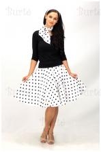 50-ųjų stiliaus sijonas, baltas