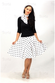 rock'n'roll skirt, white