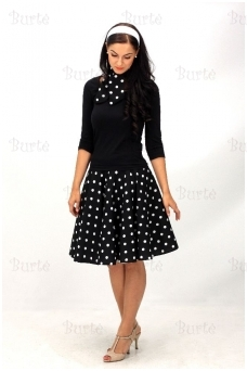 rock'n' roll skirt, black