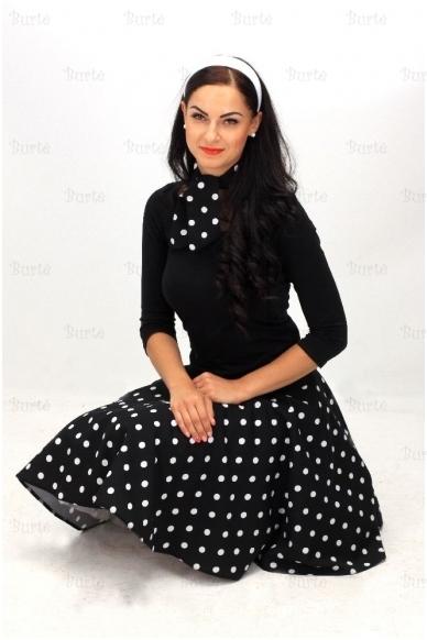 50-tųjų stiliaus sijonas, juodas 2