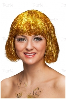 Cyber Tinsel Wig, Gold