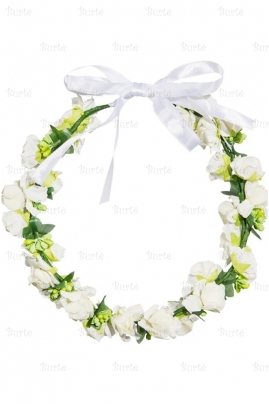 Baltų gėlyčių vainikėlis 4
