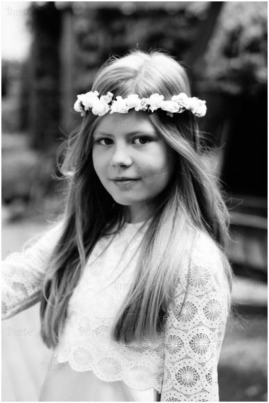 Baltų gėlyčių vainikėlis
