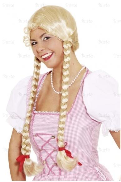 Blondinės perukas su kasomis