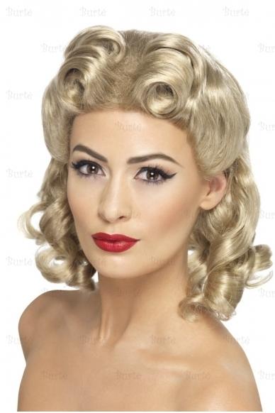 Pin up perukas, blondinės