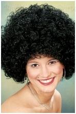 Juodas disko perukas