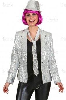Пиджак в стиле диско, серебро