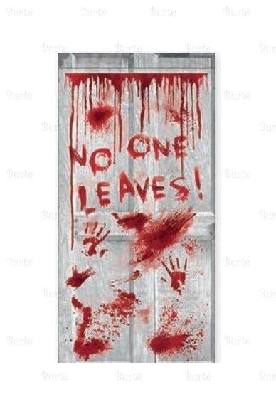 "Durų dekoracija ""No one leaves"""