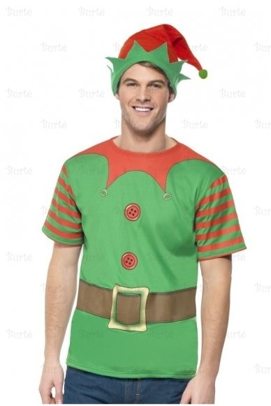 Elfo rinkinys (marškinėliai, kepurė)