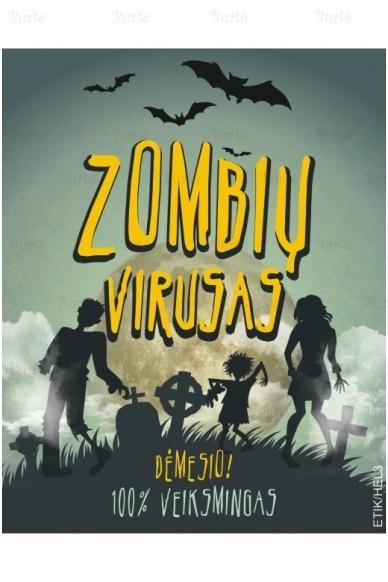 """Etiketė ant butelio """"Zombių virusas"""""""