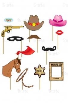 Cowboy photocall set