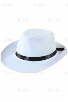 Gangsterio skrybėlė , balta