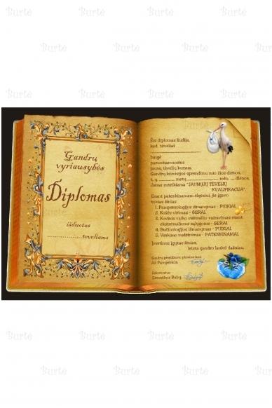 """""""Gandrų diplomas"""" krikštynoms"""