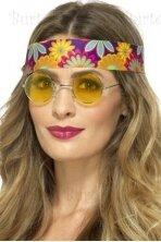 Hipio akiniai, geltoni