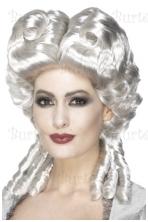 Gotikinis baroko perukas, baltas