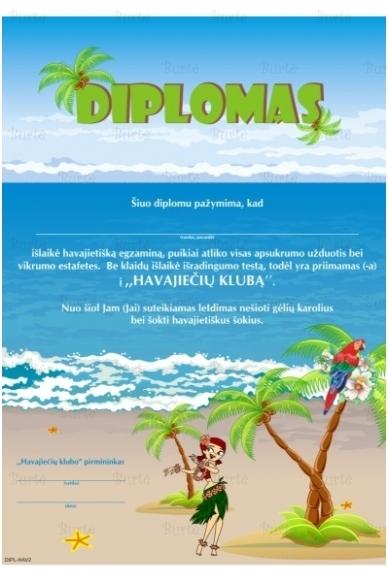 Havajiečio diplomas
