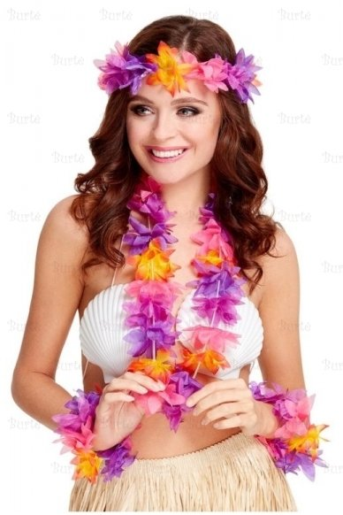 Havajietiškų girliandų rinkinys