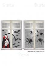 Helovino langų dekoracija