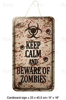 "Helovino iškaba ""Keep calm and beware of zombies"""