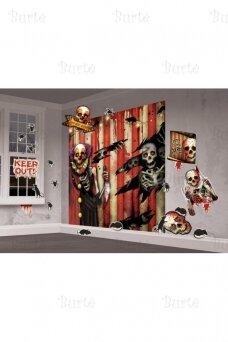 Helovino sienos dekoracija