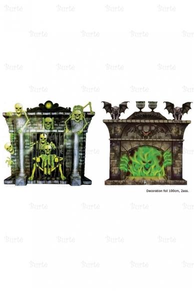 Helovino dekoracija - židinys