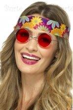 Hipio akiniai, raudoni