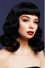 Juodos spalvos perukas Bettie
