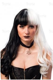 Черно-белый парик