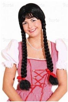 Чёрный парик с косами
