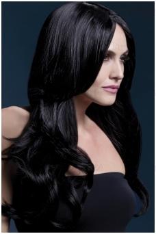 Juodų plaukų perukas Khloe