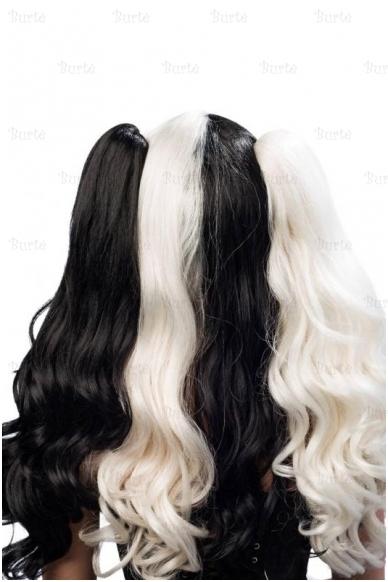 Juodai baltas perukas 3