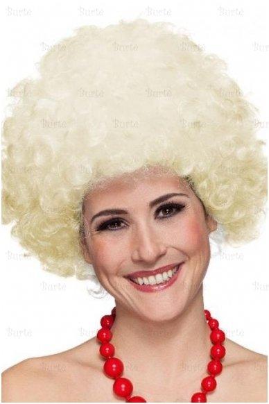 Šviesių plaukų disko perukas