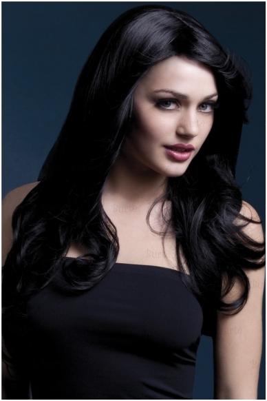 Juodų plaukų perukas Nicole