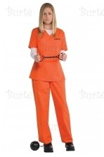 Ladies Costume Orange Inmate