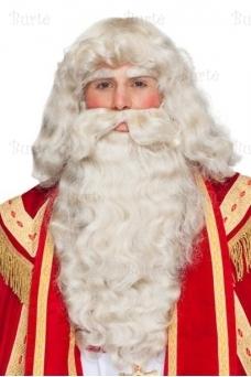 Kalėdų Senelio perukas ir barzda (su antakiais)