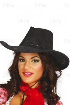 Kaubojiška skrybėlė, juoda