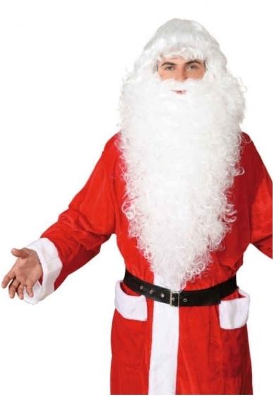 Kalėdų Senelio perukas ir barzda (baltas)