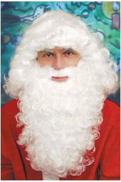 Santa Beard and Wig set, natural