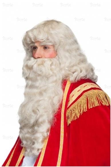 Kalėdų Senelio perukas ir barzda (su antakiais) 4