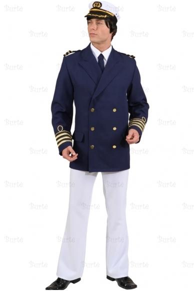 Kapitono švarkas, tamsiai mėlynas