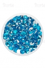 Klijuojami akmenėliai, aquamarine, 3mm