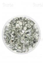 Klijuojami akmenėliai, sidabriniai, 3mm