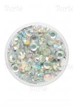 Glitter glued stones