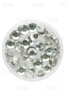 Klijuojami akmenėliai, sidabriniai, 4mm