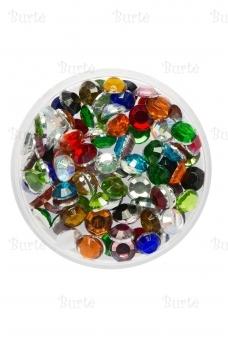 Klijuojami akmenėliai, spalvoti, 3mm
