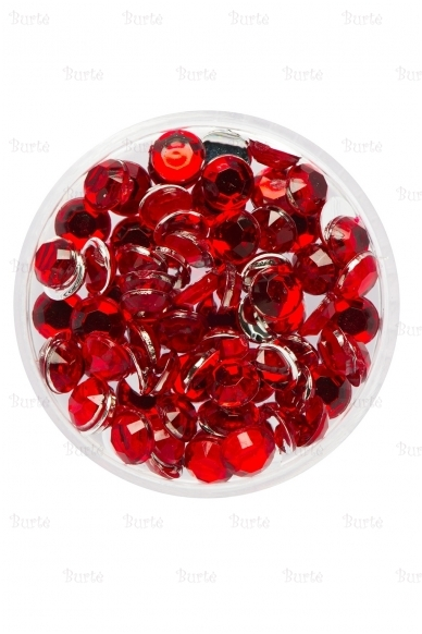 Klijuojami akmenėliai, raudoni, 3mm